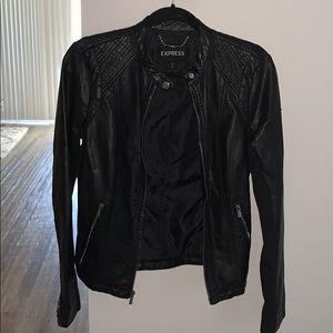 Express Black leather jacket